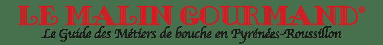 Logo original de Le Malin Gourmand en Rouge et Noir sur fond transparent