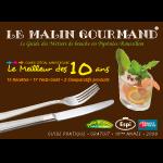Couverture de l'édition 2008 du guide papier Le Malin Gourmand