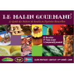 Couverture de l'édition 2009 du guide papier Le Malin Gourmand