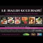 Couverture de l'édition 2010 du guide papier Le Malin Gourmand