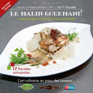 Couverture de l'édition 2011 du guide papier Le Malin Gourmand