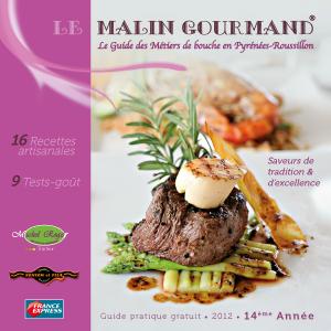 Couverture de l'édition 2012 du guide papier Le Malin Gourmand