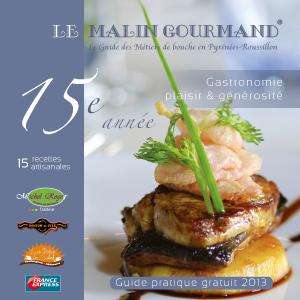 Couverture de l'édition 2013 du guide papier Le Malin Gourmand