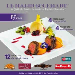 Couverture de l'édition 2017 du guide papier Le Malin Gourmand