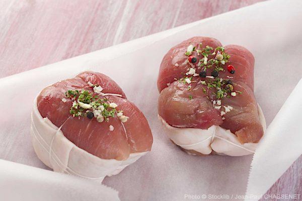 2 roulades de veau avant la cuisson publié dans le Malin Gourmand